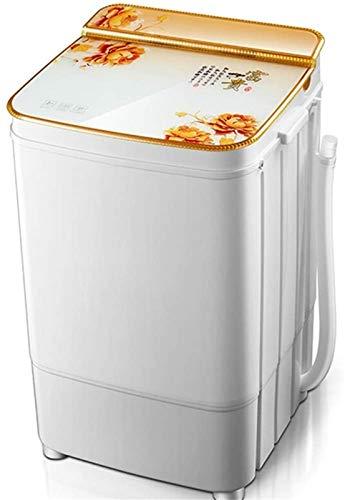 RDJM Lavadora portátil Compacto portátil Capacidad automática de la lavandería de la lavandería Lavadora/Spinner con Bomba de Drenaje (Color: Rojo) (Color : Gold)