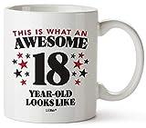 Tazza da caffè con regali per il 18° compleanno