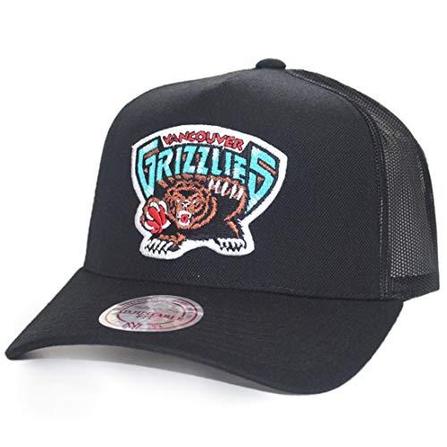 Mitchell & Ness NBA Team Logo Classic Trucker Vancouver Grizzlies - Forro polar para rastrillo, color negro