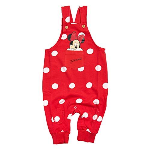 Disney Minnie Mouse - Baby Latzhose Overall, Kinder Einteiler Baumwolle (86/92)