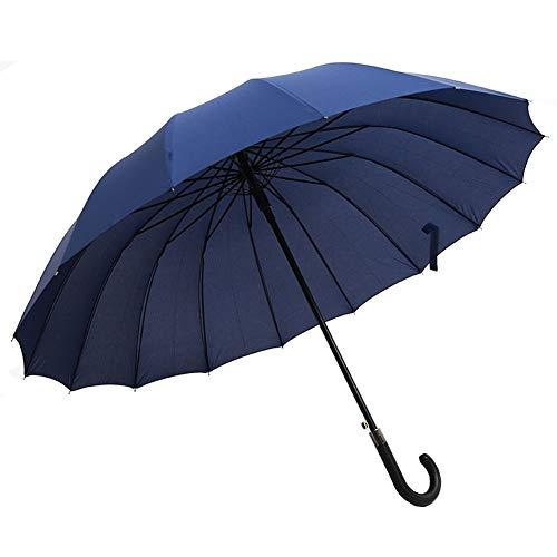 MaoDaAiMaoYi De Beste Lange Wind en Storm Dichtheid Lange Handvat Paraplu Automatische Mode Levende Grote Paraplu voor Mannen en Vrouwen (Navy Blue)