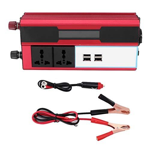 Convertidor de energía inversor, DC12V a AC 220-240V Solar Power Carger Converter,...