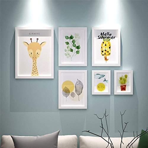 Lijsten voor foto's fotolijst muur houten fotolijst voor foto's Porta Retrato Adornos para Casa De Madera para Colgar (kleur: wit damesshirt)