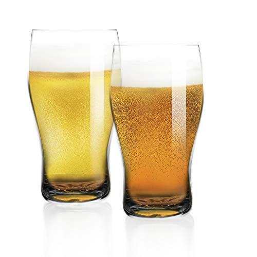 [6-Pack, 570ml/19oz] Design • Master - Bicchiere da Pinta di Birra di Alta Qualità, Bicchiere da Pinta Stile Pub Britannico, Bicchieri da Birra, Bicchiere da Birra di Pub.