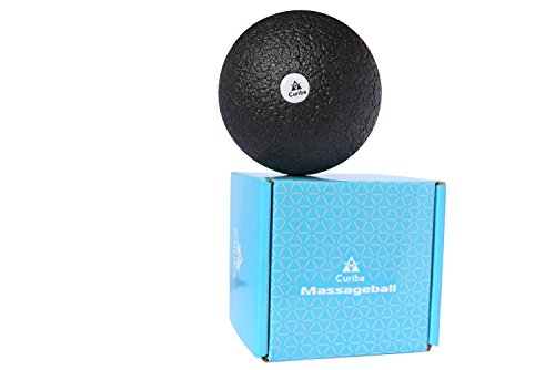 Faszienball Massageball 10 cm inkl. Anleitung - Einzelball zur Gezielten Selbstmassage Verspannter Muskeln und Faszien in Rücken, Wirbelsäule, Nacken, uvm