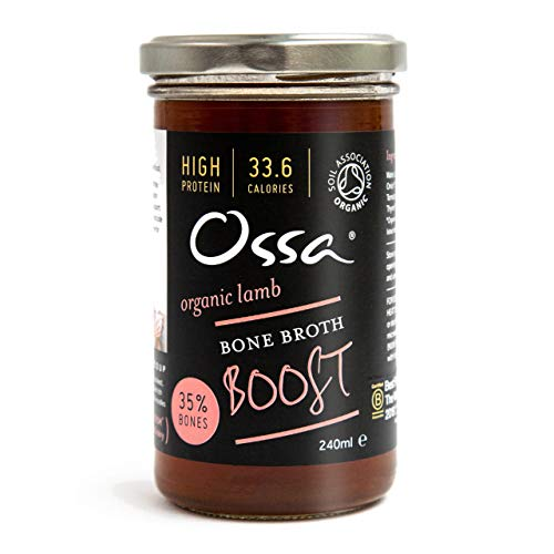 Ossa Organic Lamb Bone Broth Boost - All Natural, Keto/Paleo Cooking with Collagen Protein