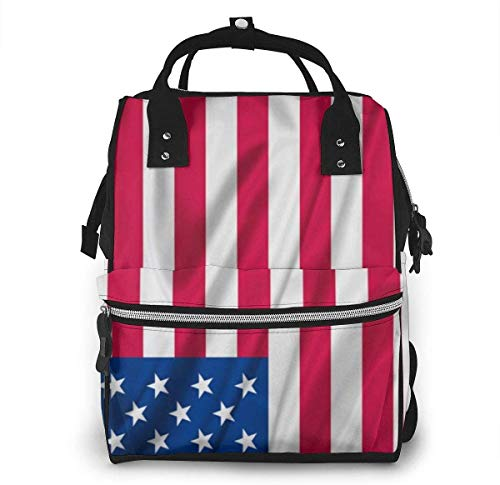 American USA Flag 16 Diaper Bags Fashion Mummy Backpack Multi Functions Large Capacity Nappy Bag Nursing Bag for Baby Care for Traveling