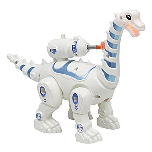 ELKeyko Robot Inteligente Dinosaurio Juguete Inteligente Control Remoto Caminando Rompecabezas niños niño niño Regalo (Color : A)
