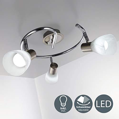LED Deckenleuchte I 3-flammig I drehbar I schwenkbar I inkl. 3x 5 W LED Leuchtmittel l Deckenlampe I E14 I IP20