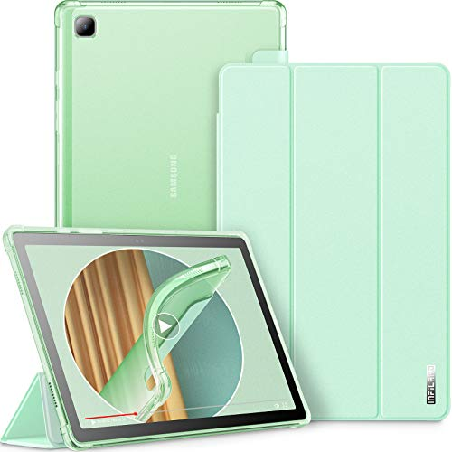 INFILAND Funda para Samsung Galaxy Tab A7 10.4 2020, TPU Suave Funda Transparente para Galaxy Tab A7 10.4 Pulgadas (T500/T505/T507) 2020, Menta Verde