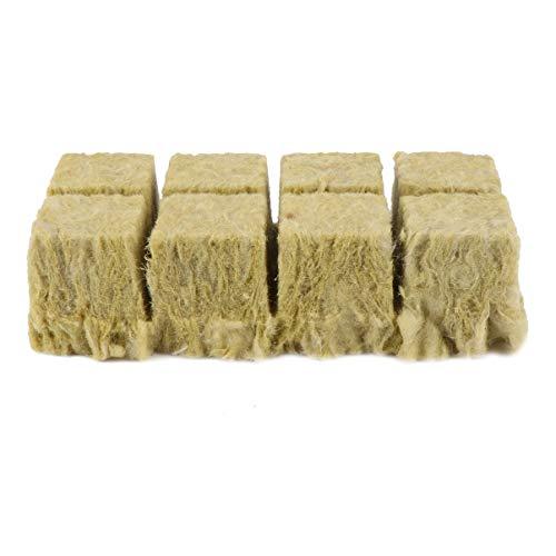 Cabilock 8 Stück Steinwolle Steinwolle Wachsen Würfel Starterblätter zum Klonen von Pflanzensamen Start Hydroponische Wachstumsmedien für Kräftiges Pflanzenwachstum