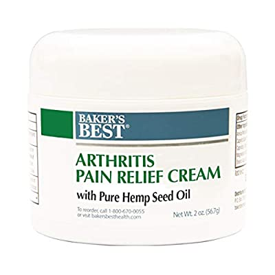 Baker's Best Arthritis Pain Relief Cream with Hemp Seed Oil | Contains 100% Pure Natural Hemp Seed Oil from Baker's Best Health Products, Inc.