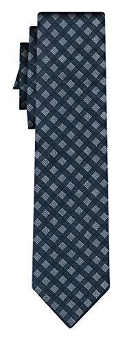 BOSS Seidenkrawatte squares pattern navy