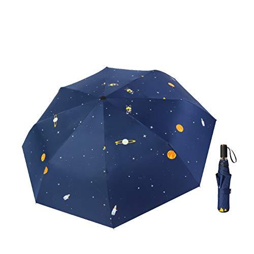 Paraguas Plegables Antiviento, Paraguas Portátil Paraguas de Viaje Compacto para Hombres y Mujeres