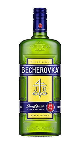 Becherovka / Tschechischer Kräuterlikör mit 20 unterschiedlichen Kräutern / Absacker mit einer leckeren bittersüßen Note / 1 x 1 L