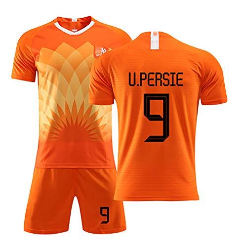 FUNBN Für Robben 11 für Sneijde 10 für Persie 9, Sommerfußballuniformen der niederländischen Nationalmannschaft, Sommerfußballuniformen für Kinder, Fußballuniformen für Fußballfans-9#-XL(180~185cm