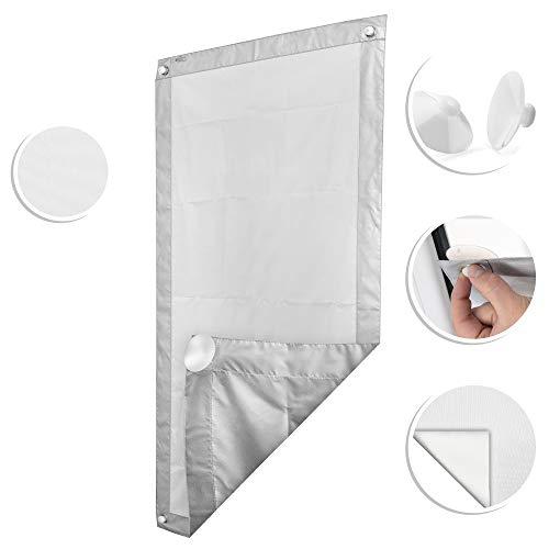 ROOMY Dachfenster Sonnenschutz Haftfix, ohne Bohren, Hitzeschutzrollo Saugnapf Verdunkelungsrollo Sichtschutz 47 cm x 96,9 cm (B x L) für FK06