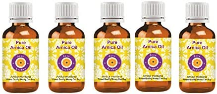 Deve Herbes Pure Arnica Oil (Arnica montana) with Glass Dropper 100% Natural Therapeutic Grade for Personal Care 15ml (0.50oz)
