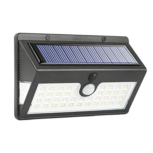 ZZYH Solar Lights Outdoor 64 LED Solar Motion Sensor Security Lights Solar Powered Lights Waterproof Wireless Wall Lights Solar Lamps for Outside 1 X LED Wall Lamp