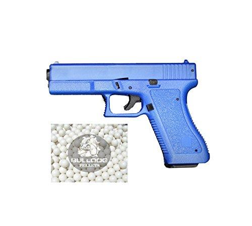 HFC HA117 Airsoft Federdruck Pistole In Blau Softair Federdruck Pistole, 0.5 Joules, Kein Hop Up, GRATIS 2000 BULLDOG BBS