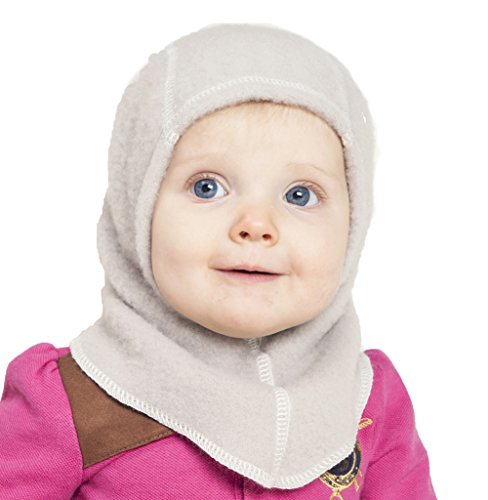 LANACare Baby Winter Hat, Merino Wool Balaclava for Kids, Soft Sand,...
