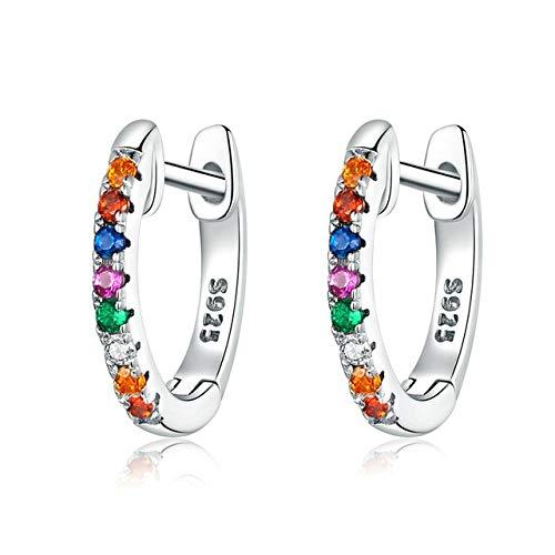 CHENQ areteGenuine 925 Sterling Silver Round Round Hoop Earrings Pendientes de oro de mujer Joyería de plata esterlina Regalo España SCE721