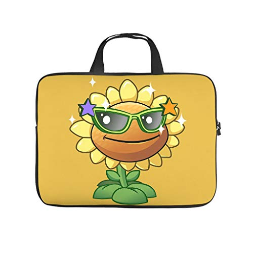 Plants vs Sun Flower Laptop Case Sleeve Bag Lightweight Water-Repellent Tote Bag for Notebook/MacBook/Ultrabook/Chromebook Plants vs Zombies,Plant,Zombie,Classic Game White 13inch