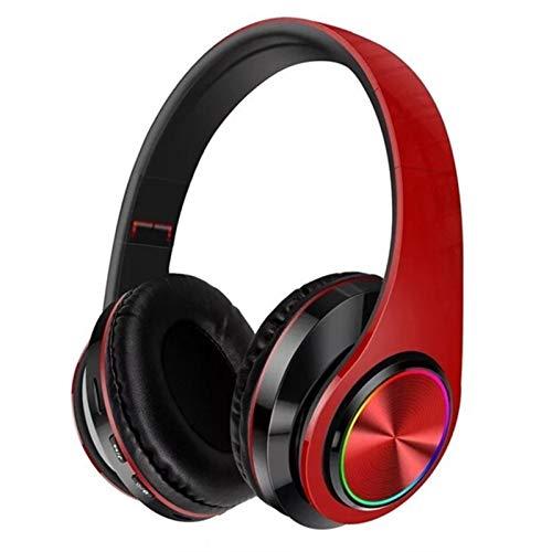 Bblie Kabelloses, glänzendes Bluetooth-Headset, Stereo, Bluetooth-Headset (Farbe: Rot / Schwarz)