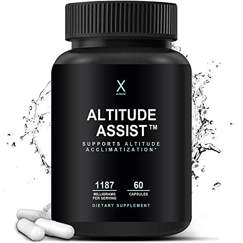 Altitude Assist – Altitude Acclimatization Supplement For High Altitude Mountain Sports (Skiing, Snowboarding, Hiking, Climbing) - Altitude Supplement - Altitude Support - by HumanX