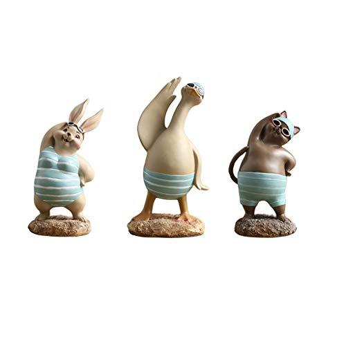 Decoracion decoratieve sculpturen konijnen, creatief huis, modern voor dieren, Scandinavisch huis, wijn, meubels voor tv-kasten, zachte sculpturen (3 sets)