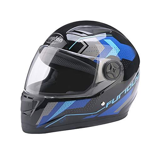 ZWL Adulte Moto Casque Anti-buée Lens Locomotive Garder au Chaud Casque La tête Protection,A