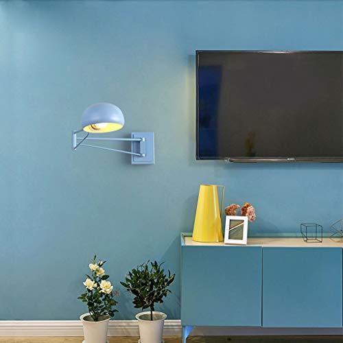 Lámpara de pared plegable moderna lámpara de pared de acero de viento industrial lámpara de pared de almacenamiento de brazo largo LED sala de estudio de niños lámpara de pared de iluminación interior