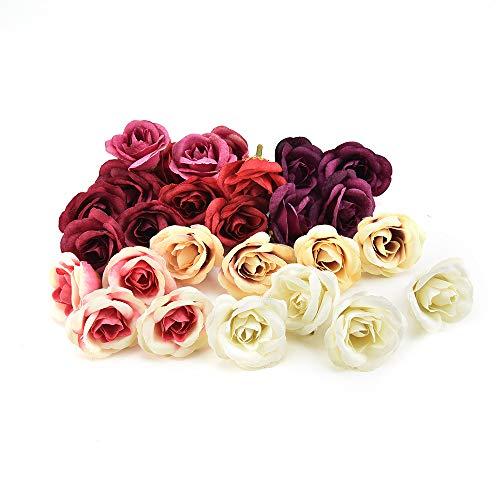 NWSX flores de seda al por mayor flor artificial clavel de seda cabeza de la flor de la boda decoración del hogar DIY…