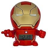 Réveil veilleuse Iron Man Marvel BulbBotz 2021432 avec son caractéristique pour...