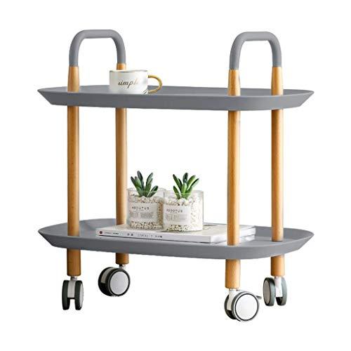 GAXQFEI Wohnzimmermöbel Mobile-Tabelle, Zwei Lächte Rawed-Tray-Tabelle Haushaltiges Barbershop Hotelle Small Warz Genarbeites Staktionen,C,40 * 59 * 58Cm