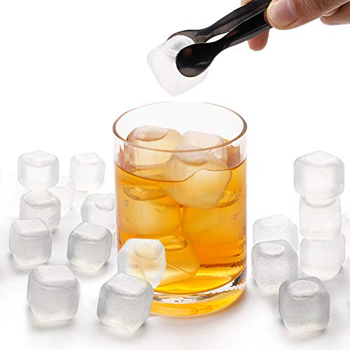 Yopay 200 Pieces Plastic Ice Cubes, 0.1' Reusable Ice Cubes For Chills Drinks, All Beverages, Refreezable, Washable, Quick And Easy To Use, White, Square