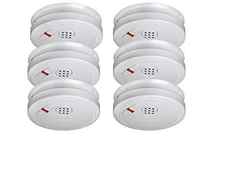 6er SET Rauchmelder mit 10 Jahres Lithium Batterie - VDS Zertifiziert & Q-Siegel für höchste...