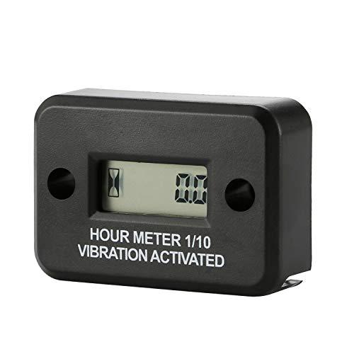 AIMILAR Wireless Vibration Hour Meter - Waterproof Hourmeter for Gas Diesel Engine Motors Lawn Mower Air Compressor