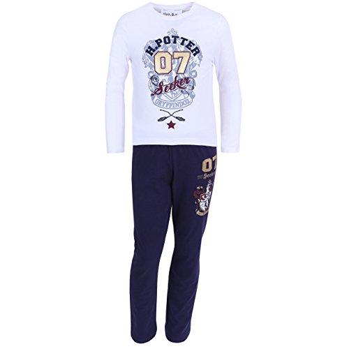 Pijama de color blanco y azul marino HARRY POTTER - 9-10 Años 140 cm
