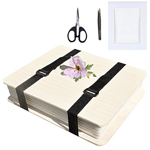 EXCEART Blumenpresse Kit Proben Blattpresse Set Naturpressen mit Beutel Und Werkzeugen für Heimwerker Bastelbedarf