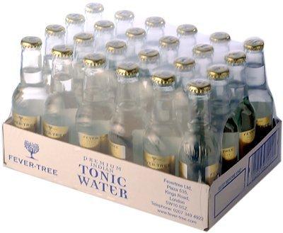 Fever-Tree - Premium Indian Tonic Water, Caja de 24 Botellas 20cl Tónica India, Premium, Sofisticada, en Botellín, Original