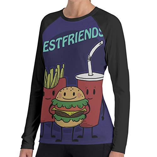 Ygoner Women's Long Sleeve T-Shirt Bestfriends Women's Personalized Baseball Raglan Long Sleeves T Shirt