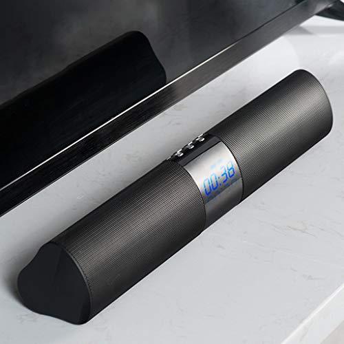 LU- La computadora del altavoz Bluetooth Hi-Fi negro, Usb pequeño equipo de música, pantalla LED, a prueba de agua IPX5 sobrepeso hogar subwoofer de alta potencia multimedia for coche inalámbrico de d