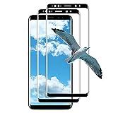 (2 Unidades) Cristal Templado para Samsung Galaxy S9, 3D Sin Burbujas y Resistente a los Arañazos Vidrio Templado, HD Protector de Pantalla para Samsung Galaxy S9 (Negro)