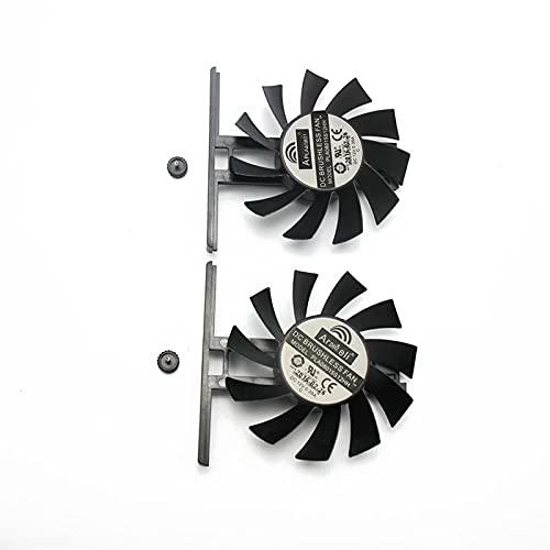 PLA08015S12HH 12V 0.35A GTX970 para GAINWARD GEFORCE GTX 970 970 970 980 Tarjeta De Gráficos Refrigeración Doble Ventilador (Blade Color : 2PCS)
