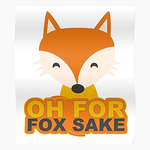Oh Nice New Cute For Fox Funny Cool Sake Home Decor Wall Art Print Poster !