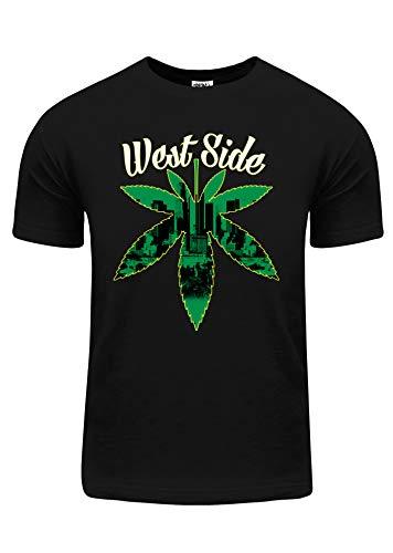 Shaka Wear Camiseta masculina com estampa de paródia divertida da Universidade Billionaire P ~ 5GG, Weed Leaf, Medium