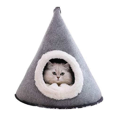 BANANAJOY Mascotas camas, Tienda cerrada gato de interior arena for gatos mascotas caliente del invierno del saco de dormir multifunción de cuatro estaciones casa del animal doméstico del recorrido al