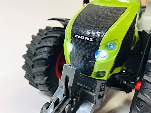 RC Auto kaufen Traktor Bild 3: BUSDUGA RC Ferngesteuerter Traktor CLAAS 870 Axion 1:16 - passend zu den Bruder Anhänger, inkl. Batterien - 2,4 GHz - RTR (Ready-to-Run) Sofort Spielbereit - Lizenz NACHBAU*
