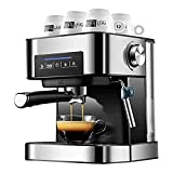 LYKYL 20Bar Espresso Machine, Stainless Steel Compact Espresso Maker with Milk Frother Wand, Professional Coffee Machine for Espresso, Cappuccino and Latte